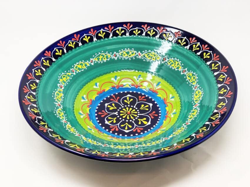 Verano Ceramics Classic Spanish Large 38cm Conical Bowl Blue Green 11