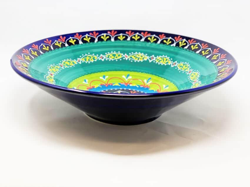 Verano Ceramics Classic Spanish Large 38cm Conical Bowl Blue Green 9