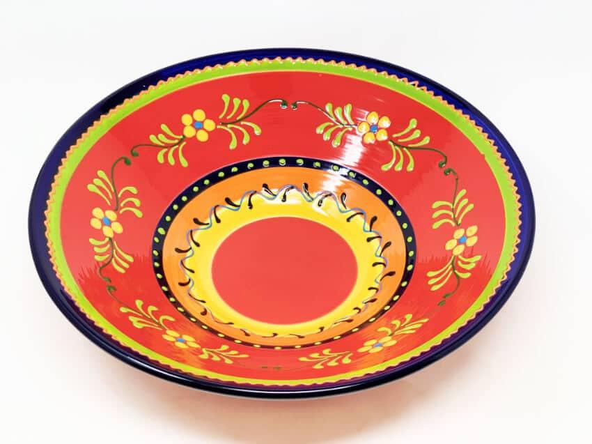 Verano Ceramics Classic Spanish Large 38cm Conical Bowl Daisy Chains 4