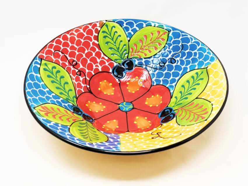Verano Ceramics Classic Spanish Large 38cm Conical Bowl Fish Scales 6