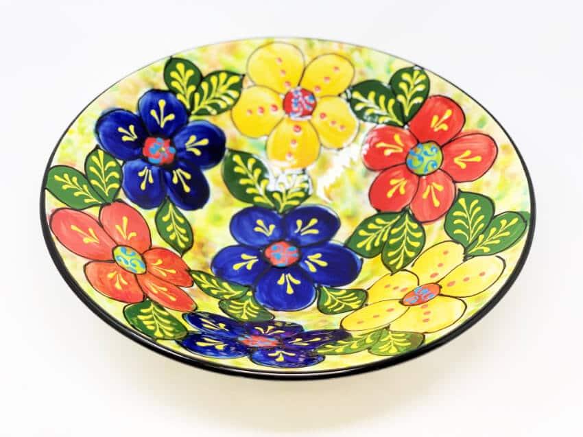 Verano Ceramics Classic Spanish Large 38cm Conical Bowl Floral 2