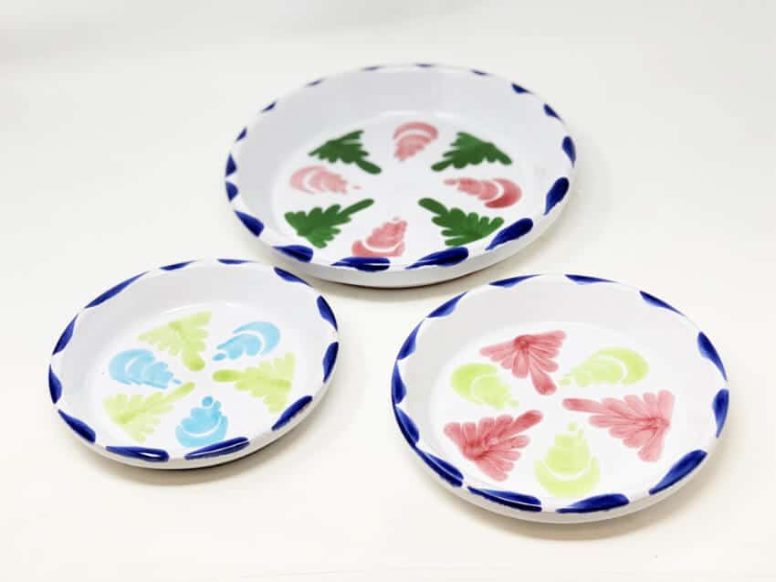 Hand Painted Floral Drainage Plate