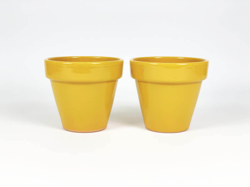 Verano-Ceramics-Selena-Classic-Pot-Mustard-SPCPM17-Set-of-2