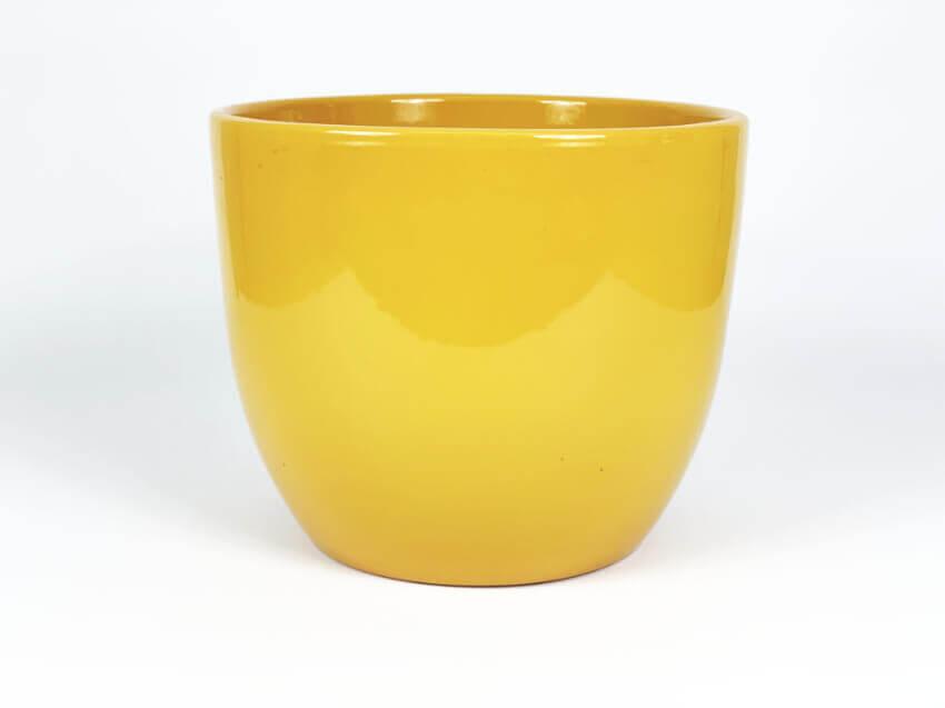 Verano-Ceramics-Selena-Garden-Planter-Mustard-SPGPM22-28-34-40