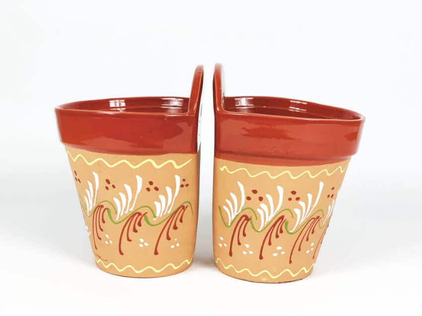 Verano-Ceramics-Set-of-2-Red-Rimmed-Inca-hanging-pots-TSHPI-14-19-21-(2)