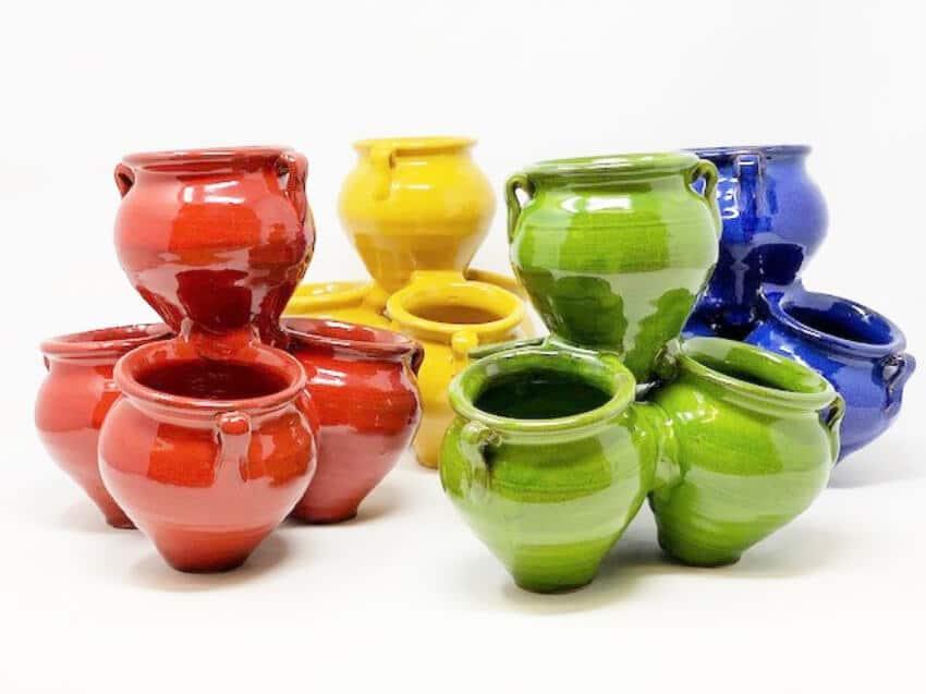Selena Glaze Quad Pots