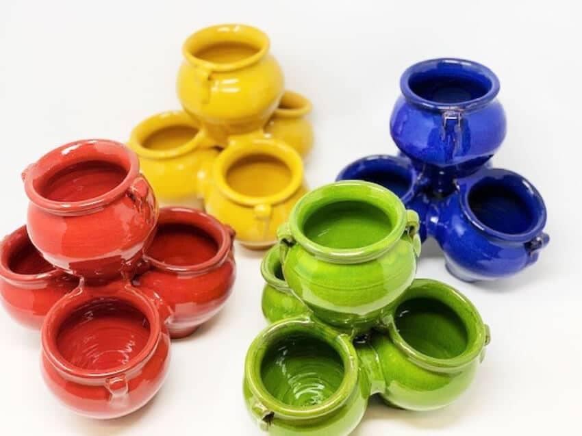 Verano-Ceramics-Spanish-Selena-Glaze-Garden-Quad-Pots-Group3-3