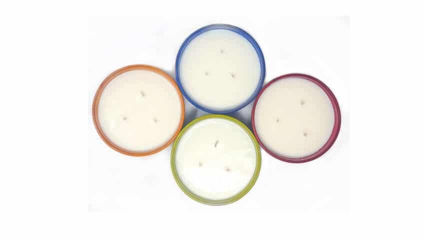 Selena Candles - Reusable 14Cm Diam Assorted Hand Dipped Glazed Bowls