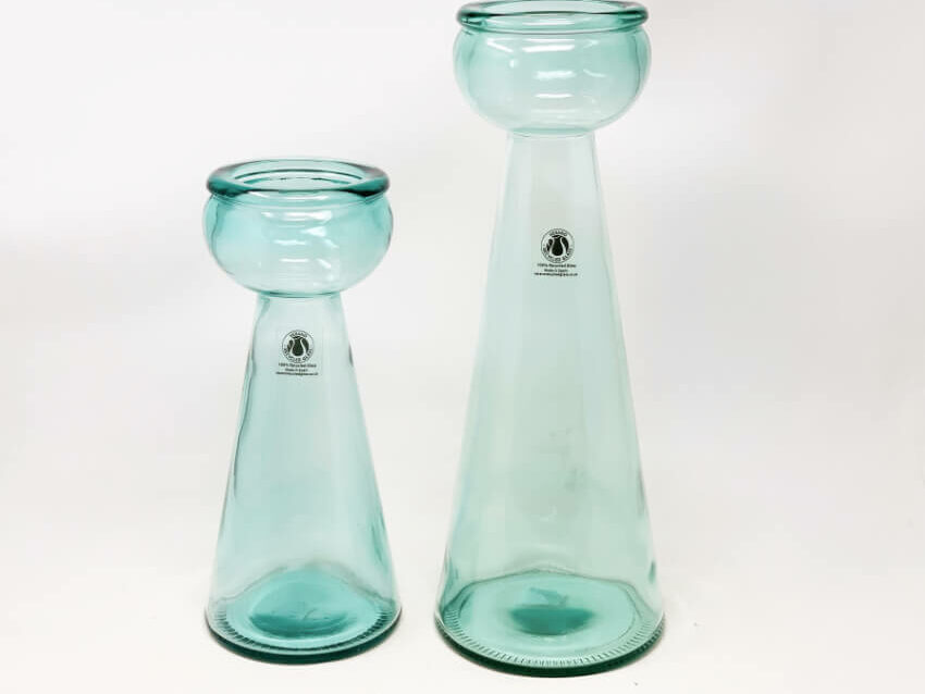 Glass Candle Holders - Clear