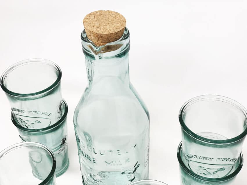Verano-Recycled-Glass-Creative-Entertaining-Absolute-Milk-Bottle-And-Tumblers-3