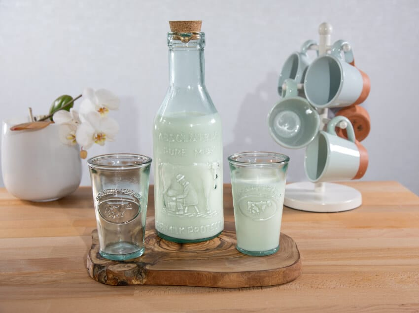 Verano-Recycled-Glass-Creative-Entertaining-Absolute-Milk-Bottle-And-Tumblers-Lifestyle-1