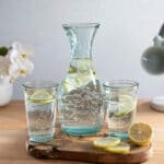 Verano-Recycled-Glass-Creative-Entertaining-Boy-And-Girl-Together-Decanter-And-Tumblers-Lifestyle-1