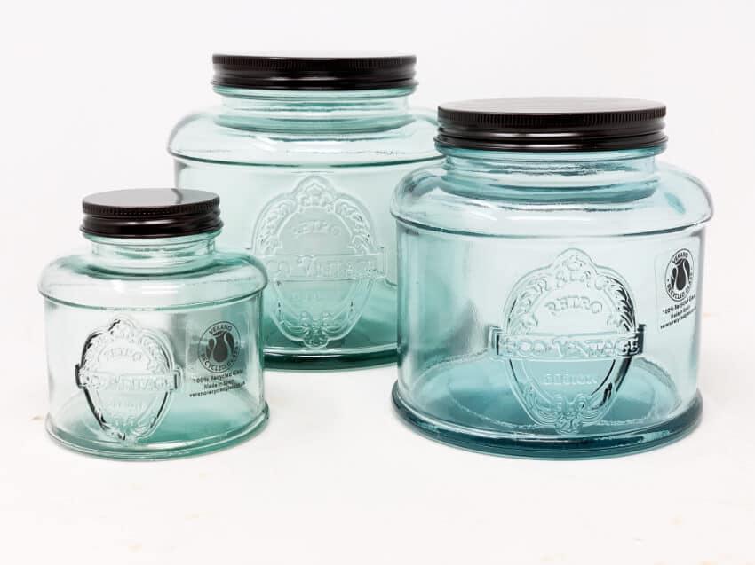 Verano-Recycled-Glass-Eco-Vintage-Set-Of-3-Storage-Jars-2