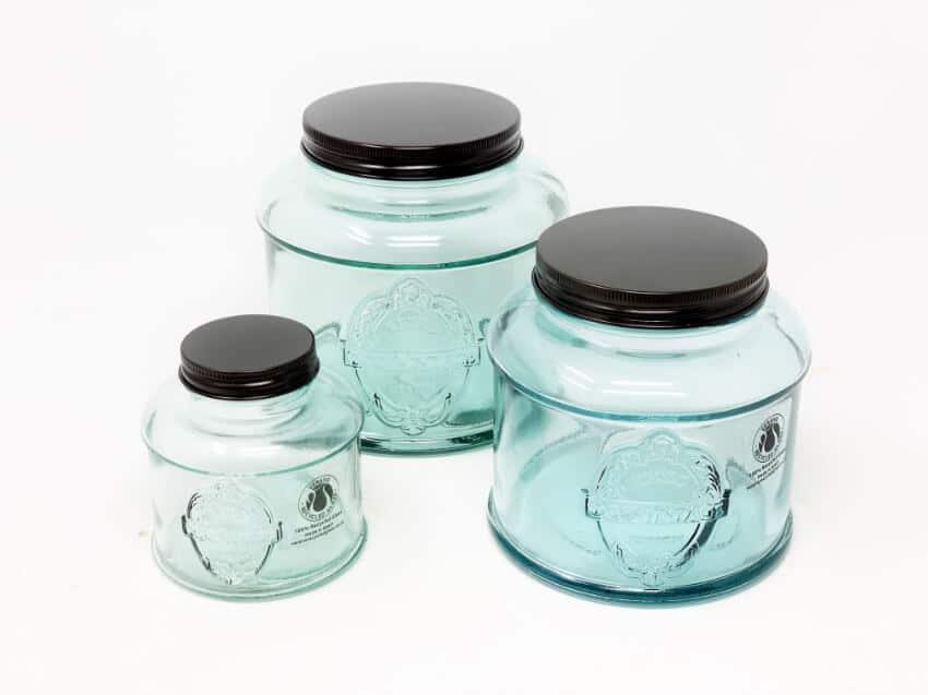 Verano-Recycled-Glass-Eco-Vintage-Set-Of-3-Storage-Jars-3