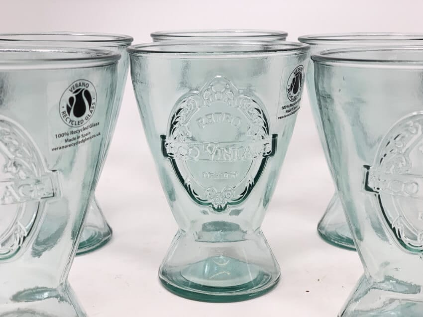 Verano-Recycled-Glass-Eco-Vintage-Set-Of-6-Small-Conical-Glasses-2