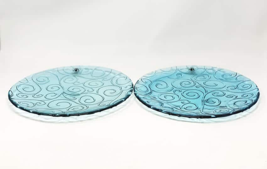Ice - Set Of 2 Large Serving Plates