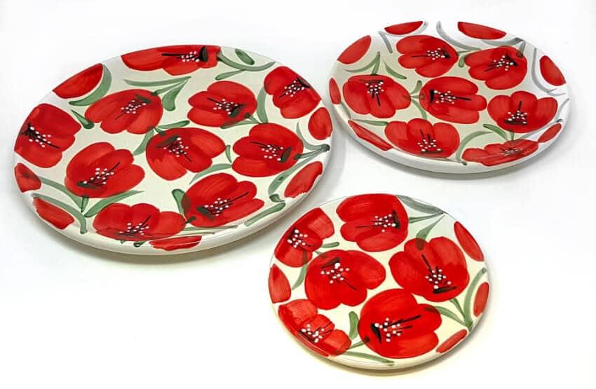 Castilian Poppies - Plates
