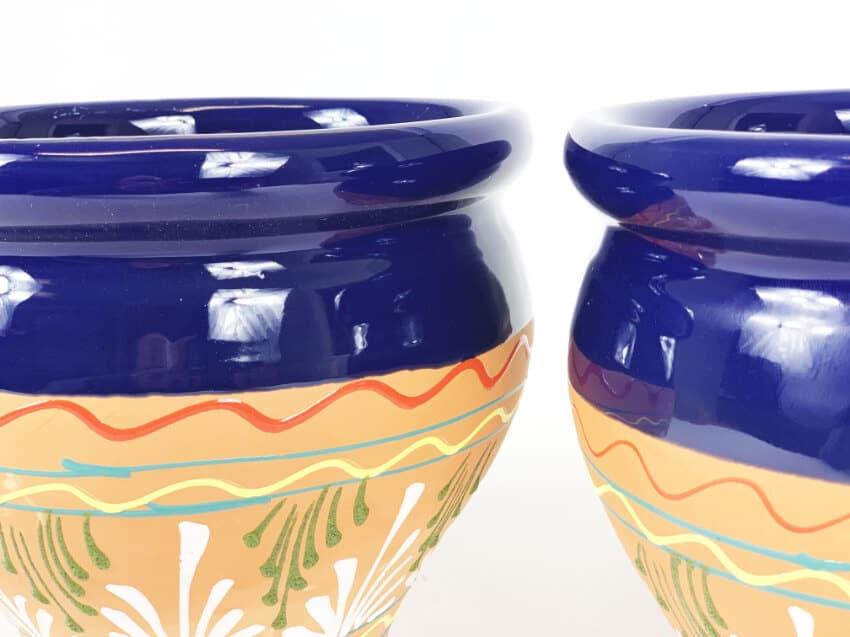 Verano-Spanish-Ceramics-Outdoor-Living-Bola-Inca-Pots-18cm-Blue-1