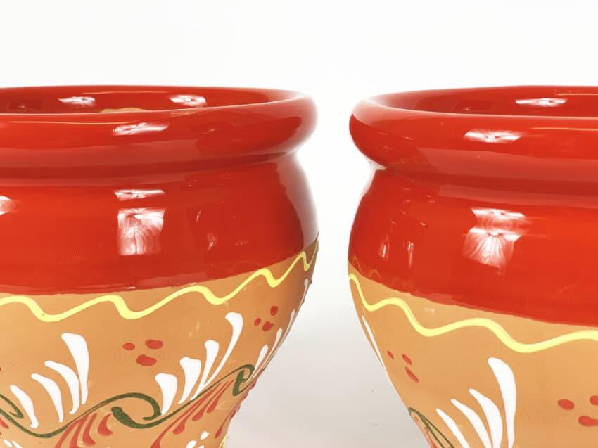 Verano-Spanish-Ceramics-Outdoor-Living-Bola-Inca-Pots-18cm-Red-1