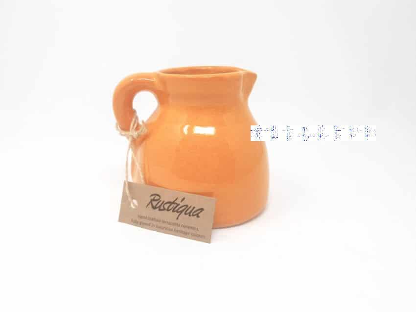 Verano-Spanish-Ceramics-Rustiqua-Chunky-Flat-Based-Jug-Orange-1