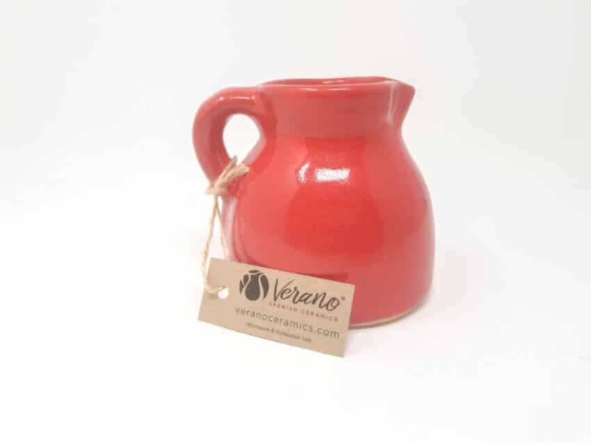 Verano-Spanish-Ceramics-Rustiqua-Chunky-Flat-Based-Jug-Red-2