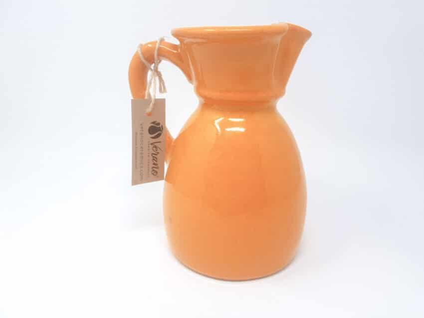 Verano-Spanish-Ceramics-Rustiqua-Curvy-Jug-Orange