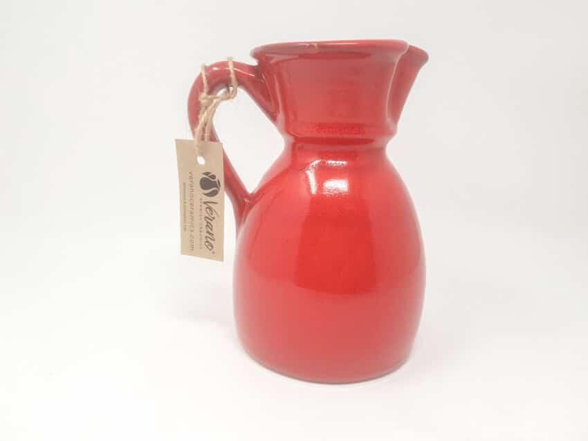 Verano-Spanish-Ceramics-Rustiqua-Curvy-Jug-Red