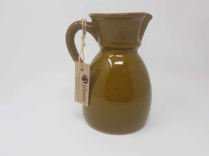 Verano-Spanish-Ceramics-Rustiqua-Curvy-Jug-Teal