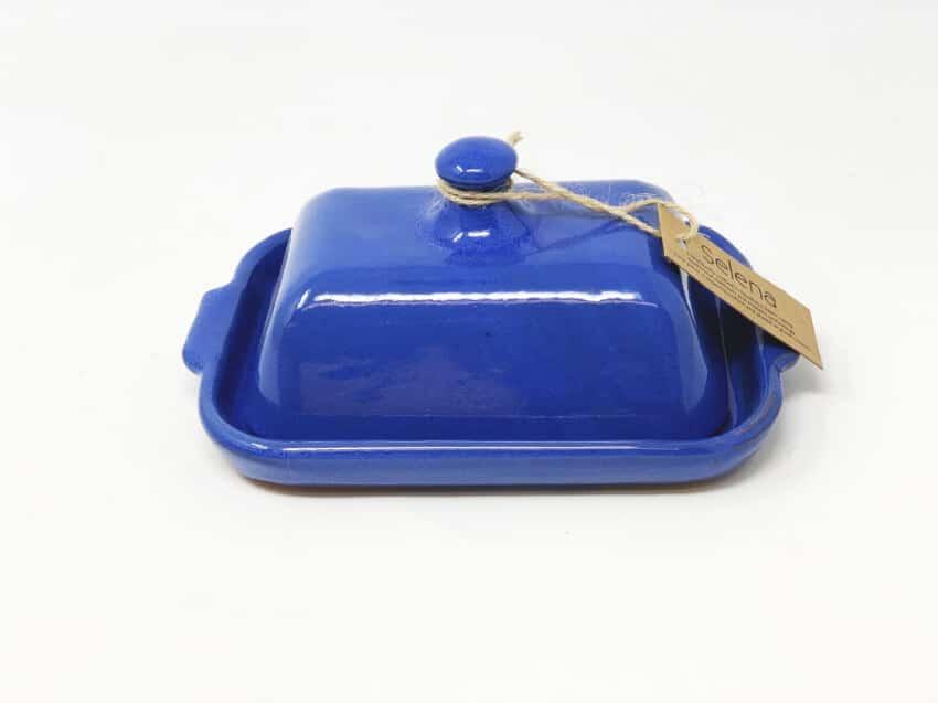 Verano-Spanish-Ceramics-Selena-Butter-Dish-Blue-1