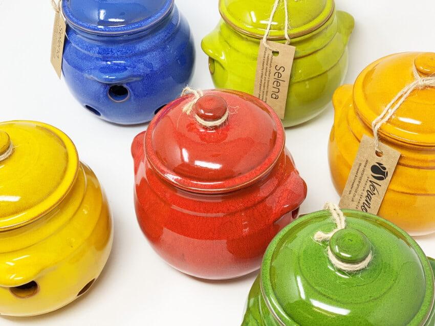 Verano-Spanish-Ceramics-Selena-Garlic-Jar-Group-2