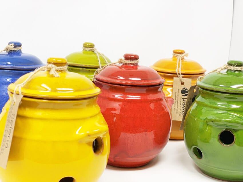 Verano-Spanish-Ceramics-Selena-Garlic-Jar-Group-3