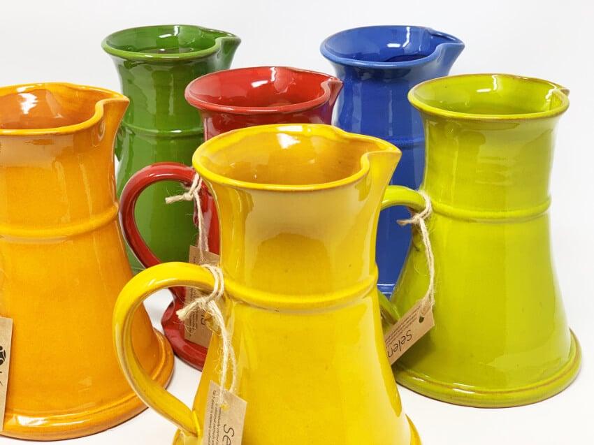 Verano-Spanish-Ceramics-Selena-Large-Flat-Based-Jug-Group-2