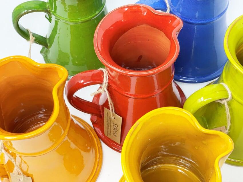Verano-Spanish-Ceramics-Selena-Large-Flat-Based-Jug-Group-5