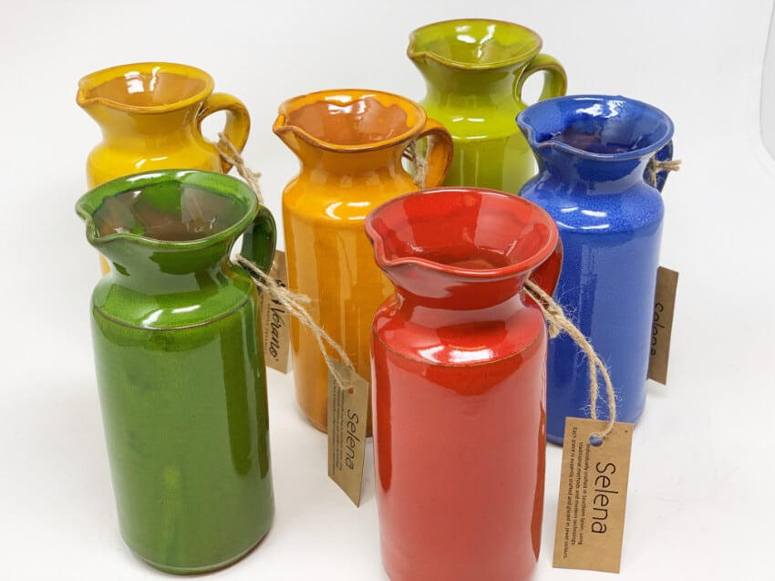 Verano-Spanish-Ceramics-Selena-Rustic-Bottles-Group-2