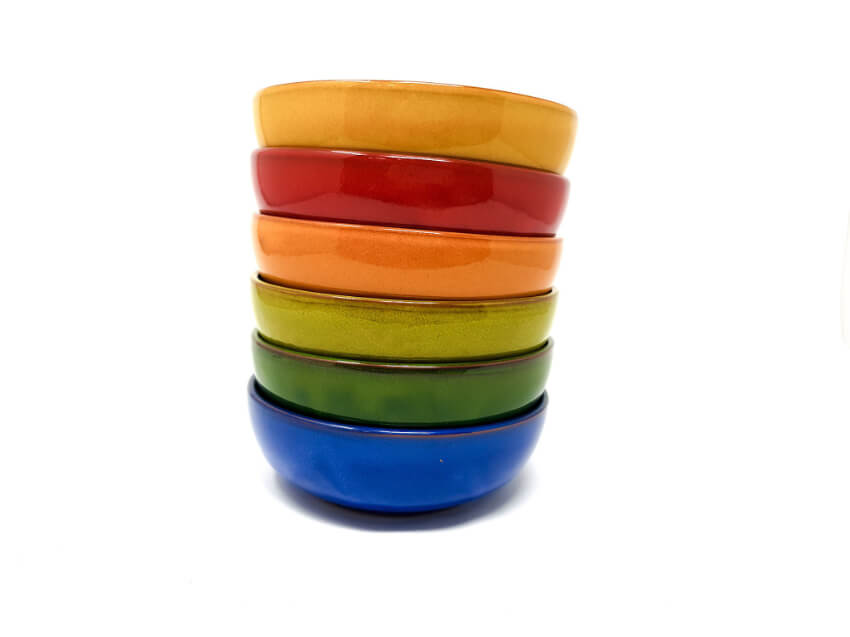 Verano-Spanish-Ceramics-Selena-Shallow-Bowls-14cm-Group-Stacked-1