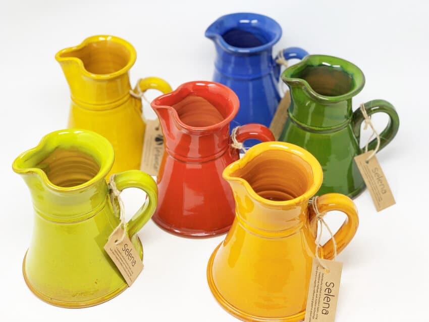 Verano-Spanish-Ceramics-Selena-Small-Flat-Based-Jugs-Group-2
