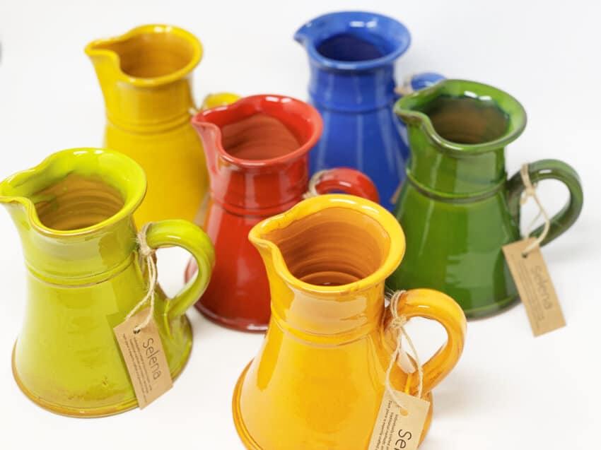 Verano-Spanish-Ceramics-Selena-Small-Flat-Based-Jugs-Group-3