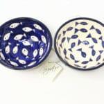 Verano-Spanish-Ceramics-Signature-Blue-And-White-Fish-Sets-Of-2-Appetiser-Bowls-Mix-2