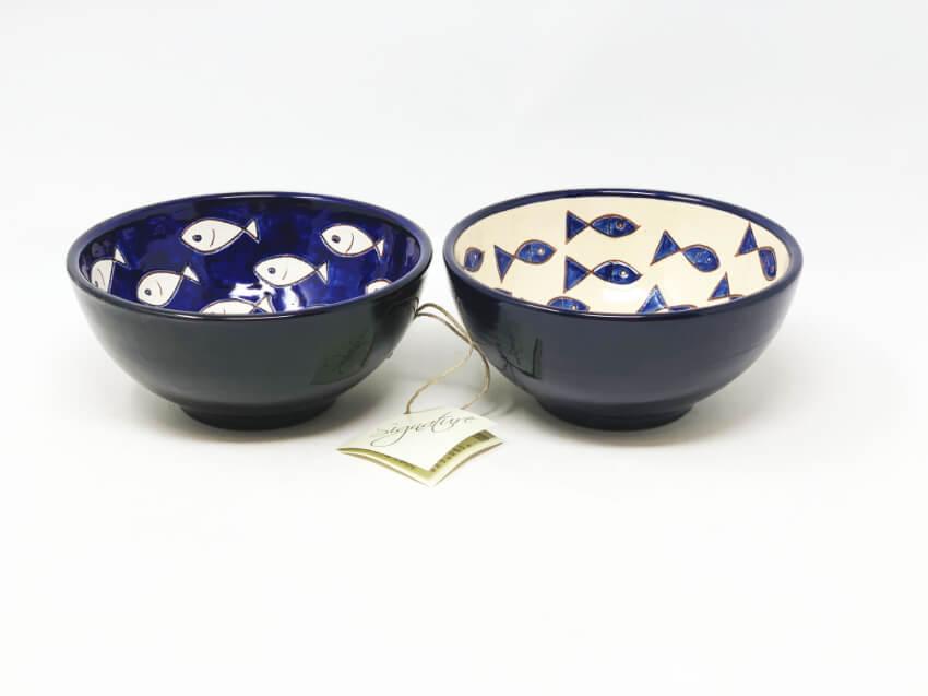 Signature - Blue & White Fish - Sets Of 2 Appetiser Bowls