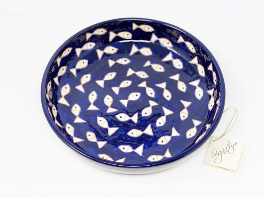 Verano-Spanish-Ceramics-Signature-Blue-and-White-Fish-Large-Bowl-3