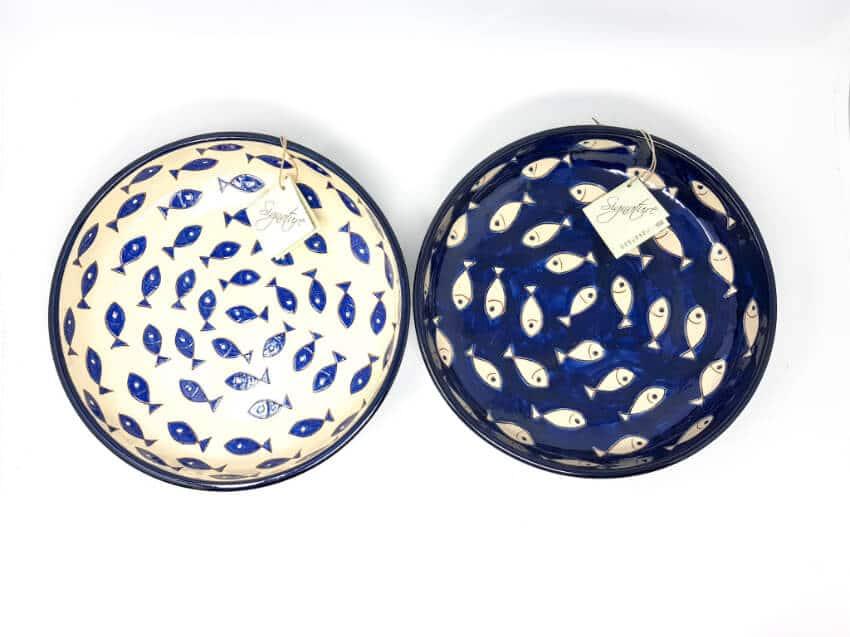 Verano-Spanish-Ceramics-Signature-Blue-and-White-Fish-Large-Bowl-8