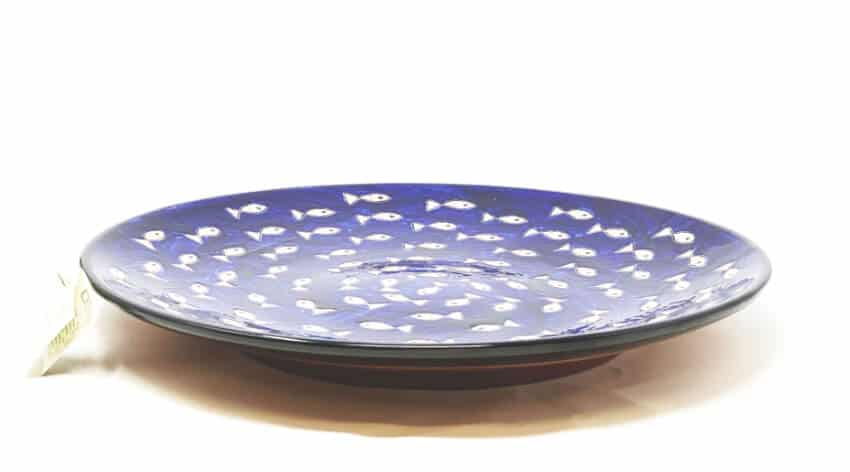 Verano-Spanish-Ceramics-Signature-Blue-and-White-Fish-Large-Platter-3