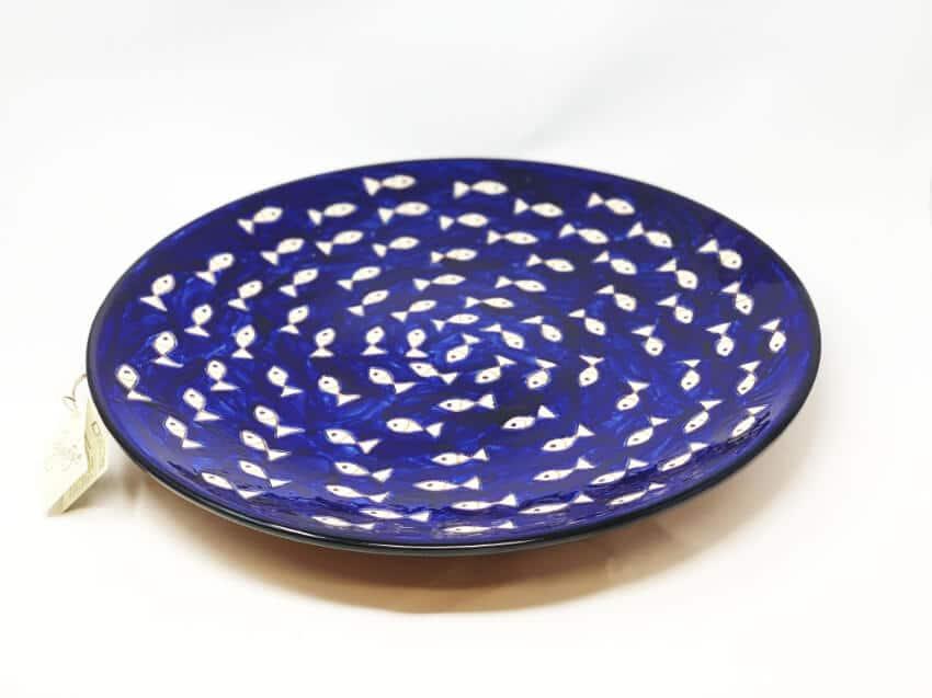Verano-Spanish-Ceramics-Signature-Blue-and-White-Fish-Large-Platter-4