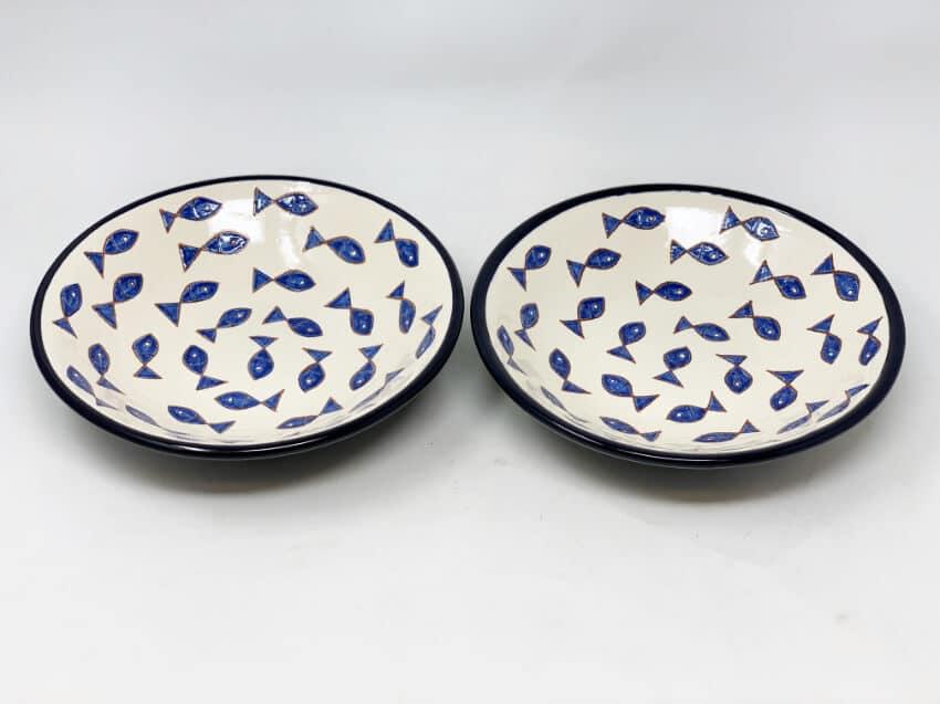 Verano-Spanish-Ceramics-Signature-Blue-and-White-Fish-Pasta-Bowls-3