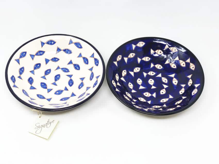 Verano-Spanish-Ceramics-Signature-Blue-and-White-Fish-Pasta-Bowls-7
