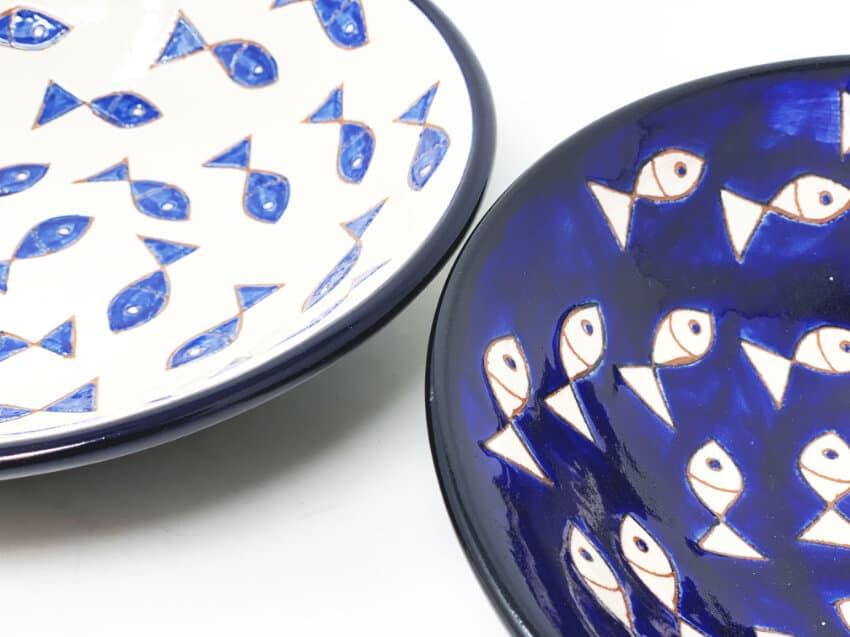 Verano-Spanish-Ceramics-Signature-Blue-and-White-Fish-Pasta-Bowls-8