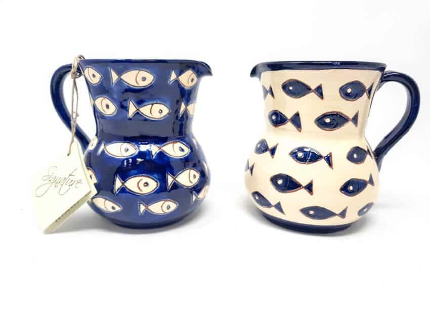 Signature - Blue & White Fish - Small Jug