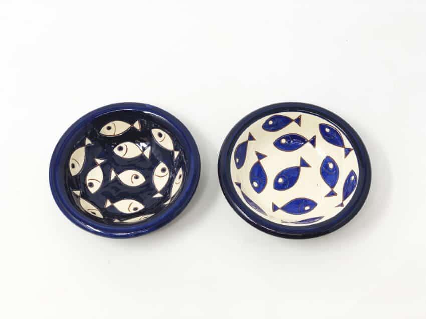 Signature - Blue & White Fish - Sets Of 2 Tapas Bowls 12Cm