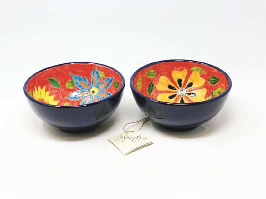 Signature - Set Of 2 Flower Appetizer Bowls