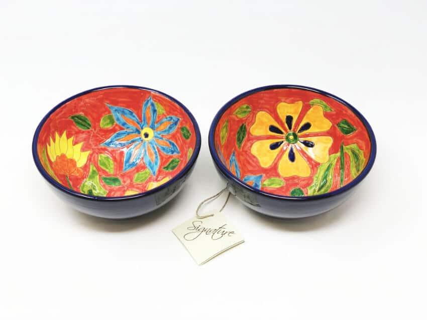 Verano-Spanish-Ceramics-Signature-Flowers-Appetiser-Bowls-2